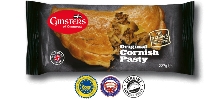 Image result for ginsters cornish pasty